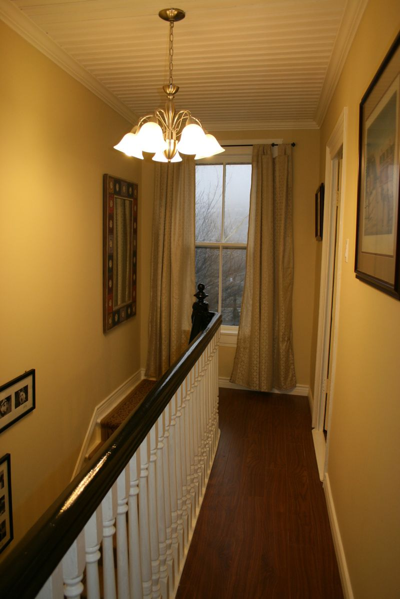 Finished view down hall